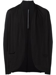 Attachment Draped Collar Cardigan Black