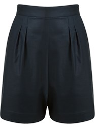 Andrea Marques High Waisted Short Blue