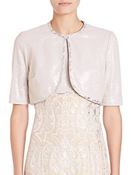 Kay Unger Sequin Jacket Champagne