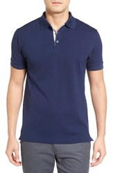 Bobby Jones Men's Solid Pique Golf Polo Navy