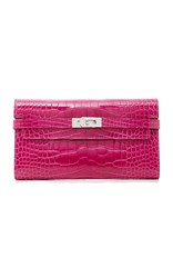Heritage Auctions Special Collections Hermes Rose Scheherazade Shiny Alligator Kelly Wallet Pink