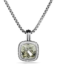 David Yurman Albion Pendant With Prasiolite And Diamonds Silver Yellow Gold