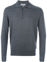 Canali Polo Sweater Grey