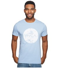 Rvca Motors Ink Tee Deja Blue Men's T Shirt