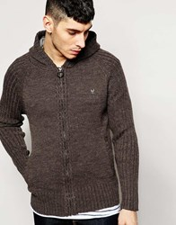Ringspun Ribbed Zip Through Cardigan Grey