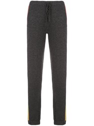 Madeleine Thompson Striped Loose Track Trousers Grey