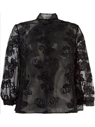 Simone Rocha Semi Sheer Blouse Black