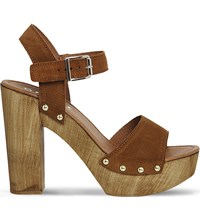 Office Amazonian Suede Platform Sandals Tan Suede