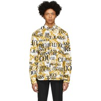 Versace Jeans Couture White Logo Baroque Shirt