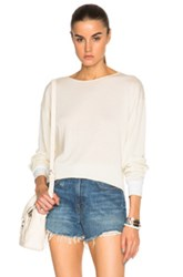 Golden Goose Lucy Cashmere Sweater In White