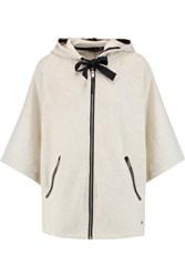 Rag And Bone Caitlin Oversized Cotton Jersey Hooded Sweatshirt Ivory