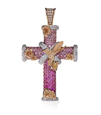 Theo Fennell Magical Dawn Cross Pendant Female