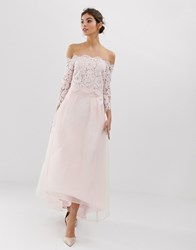 Coast Iridessa High Low Chiffon Skirt Pink