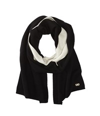 Cole Haan Doublefaced Colorblock Muffler Black White Scarves