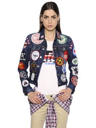 Dsquared Patches Embellished Denim Jacket