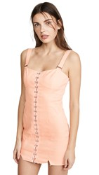 For Love And Lemons Monika Hook Front Mini Dress Cotton Candy