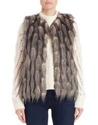 French Connection Feathered Faux Fur Vest