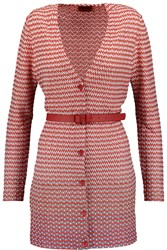 Missoni Belted Crochet Knit Cardigan