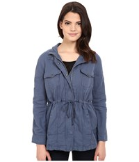 Calvin Klein Jeans Trucker Utility Jacket Midnight Oil Women's Coat Blue