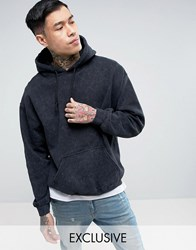 ffd6b95086bf Reclaimed Vintage Inspired Oversized Hoodie In Washed Black Black