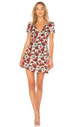 Wyldr Cherry Wine Wrap Dress White
