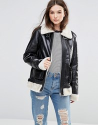Barney's Originals Aviator Jacket Black
