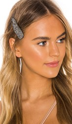 8 Other Reasons Jessica Clip In Metallic Silver. Black