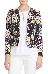 Women's Cece By Cynthia Steffe Floral Print One Button Jacket