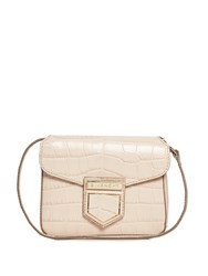 Givenchy Nobile Mini Crocodile Effect Cross Body Bag Light Pink