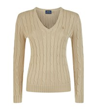 Polo Ralph Lauren Kimberly Cable Knit Sweater Female Beige