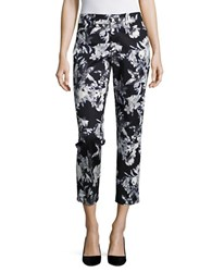 Lord And Taylor Petite Cropped Kelly Ankle Pants Black