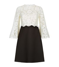 Valentino Lace Overlay Dress Female White
