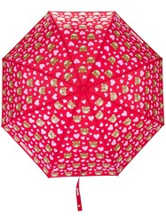 Moschino Teddy Bear Print Umbrella Red
