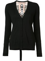 N 21 No21 V Neck Cardigan Women Silk Cotton 44 Black