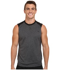 The North Face Reactor Sleeveless Crew Shirt Asphalt Grey Heather Tnf Black Men's Sleeveless Gray
