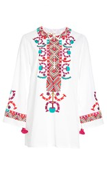 Figue Lisbette Embroidered Tunic White