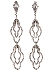 Loree Rodkin Black Gold Drop Diamond Earrings Metallic