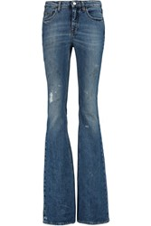 Victoria Beckham Mid Rise Flared Jeans Blue