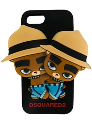 Dsquared2 Twin Bear Iphone Case Men Silicones One Size Black