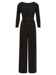Viyella Buckle Detail Jumpsuit Black