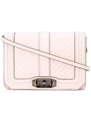 Rebecca Minkoff Quilted Crossbody Bag Women Leather One Size Pink Purple
