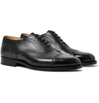 Tricker's Trenton Cap Toe Leather Oxford Brogues Black