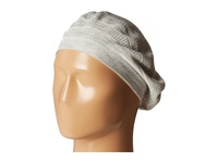 Calvin Klein Eyelet Stripe Beret Heathered Mid Grey Knit Hats Blue