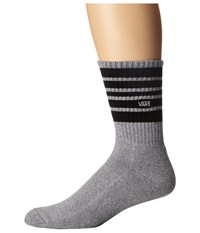 Vans Striped Crew 1 Pair Pack Heather Grey Men's Crew Cut Socks Shoes Gray