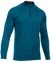 Under Armour Men's Ua Tech Quarter Zip Jacquard Shirt Pea Pea Bl