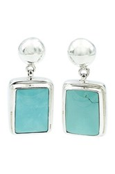 Exex Design Jewelry Sterling Silver Paradise Valley Turquoise Earrings Blue