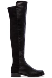 Stuart Weitzman 5050 Stretch Leather Boot Black