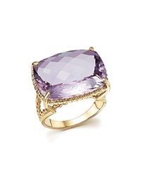 Bloomingdale's Rose Amethyst Statement Ring In 14K Yellow Gold 100 Exclusive Purple Yellow