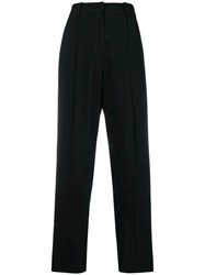 Emporio Armani High Waisted Tailored Trousers Black