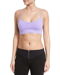Live The Process Corset Solid Bustier Sports Bra Lilac Purple
